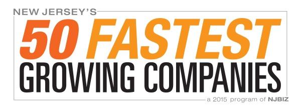 New Jersey's 50 Fastest Growing Companies - a 2015 program of NJBIZ