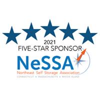 2021 Five-Star Sponsor NeSSA - Northeast Self Storage Association. Connecticut, Massachusetts, Rhode Island