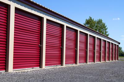 Exterior of a self storage facility