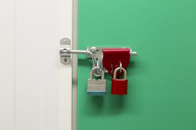Lockout of a self storage unit