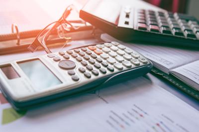 Calculators and notebook
