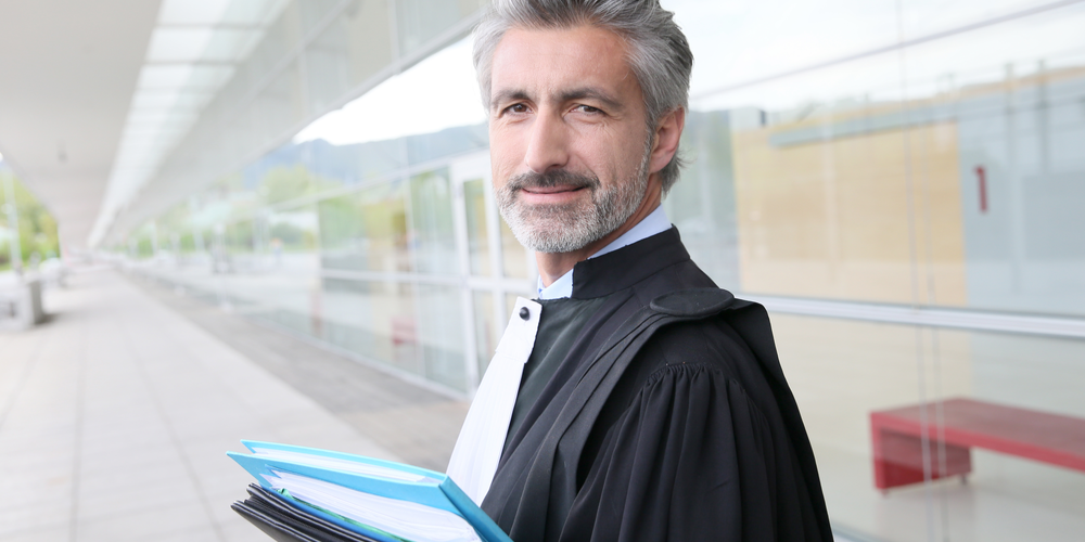 Male Judge smiling