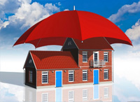 umbrella covering building