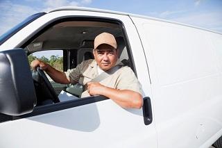Man in a white van