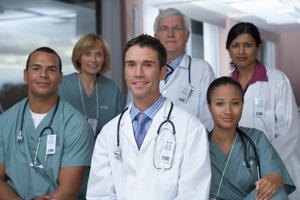 doctors posing together