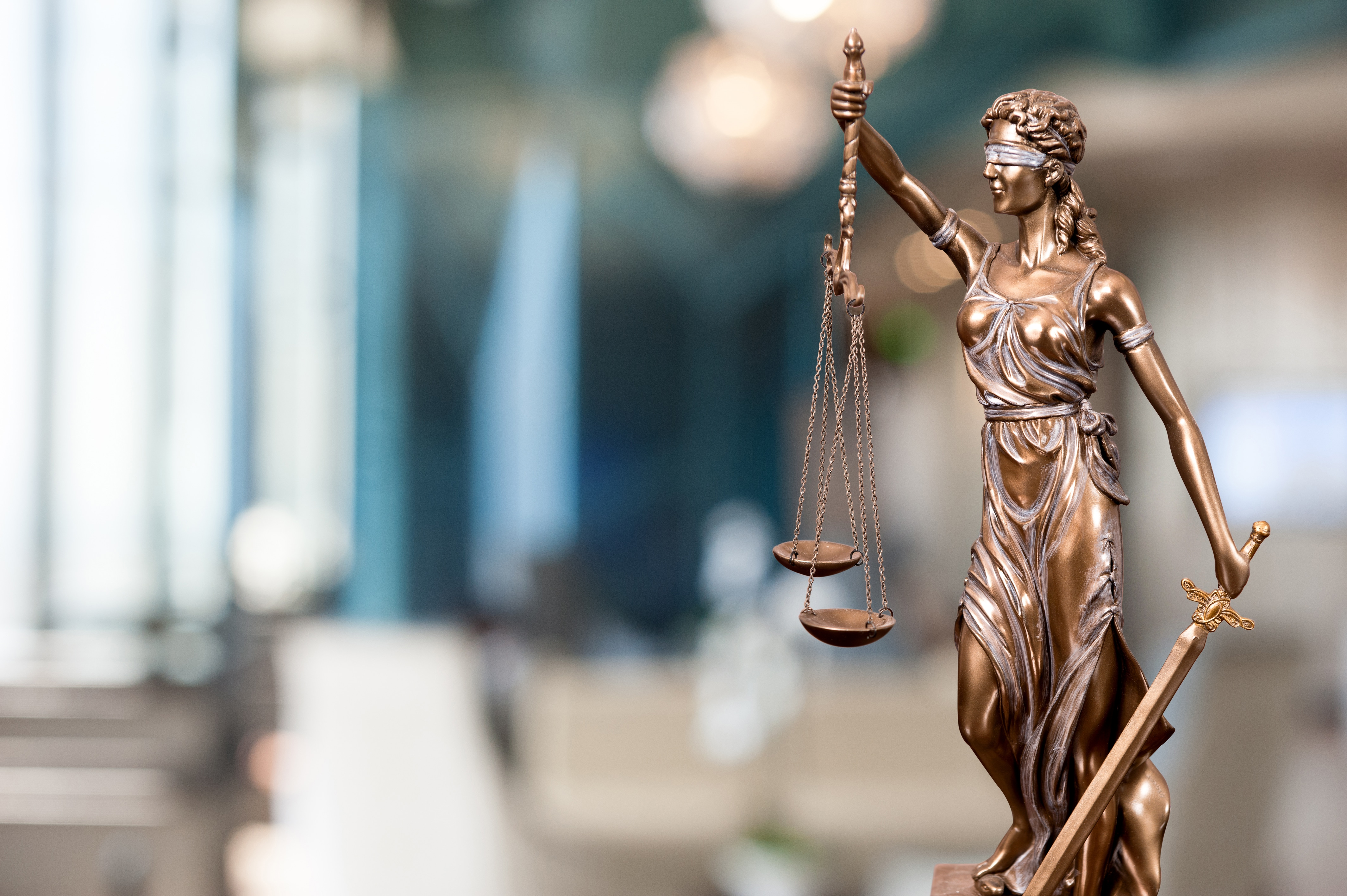 Statuette of lady justice