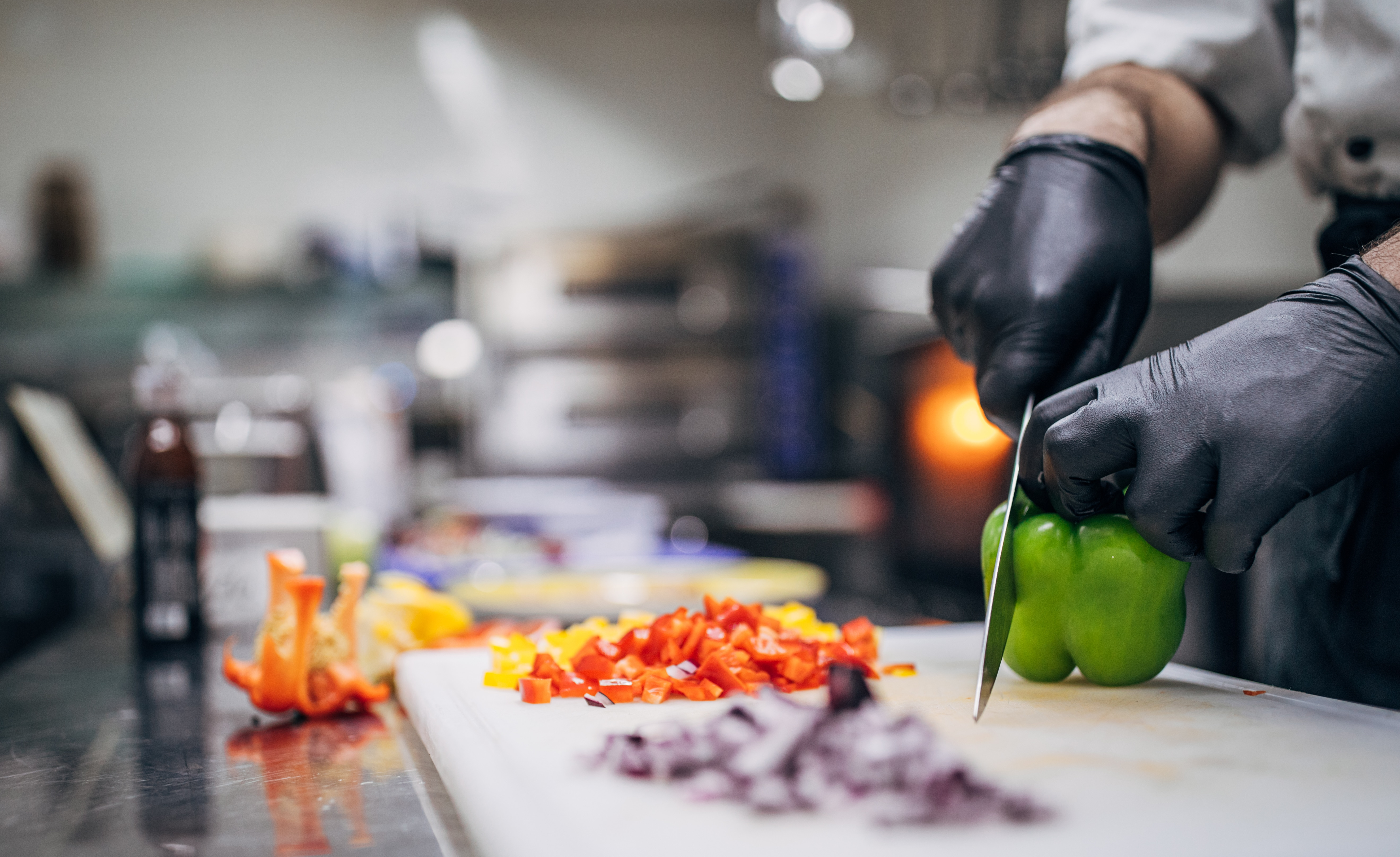 Cooking in a restaurant