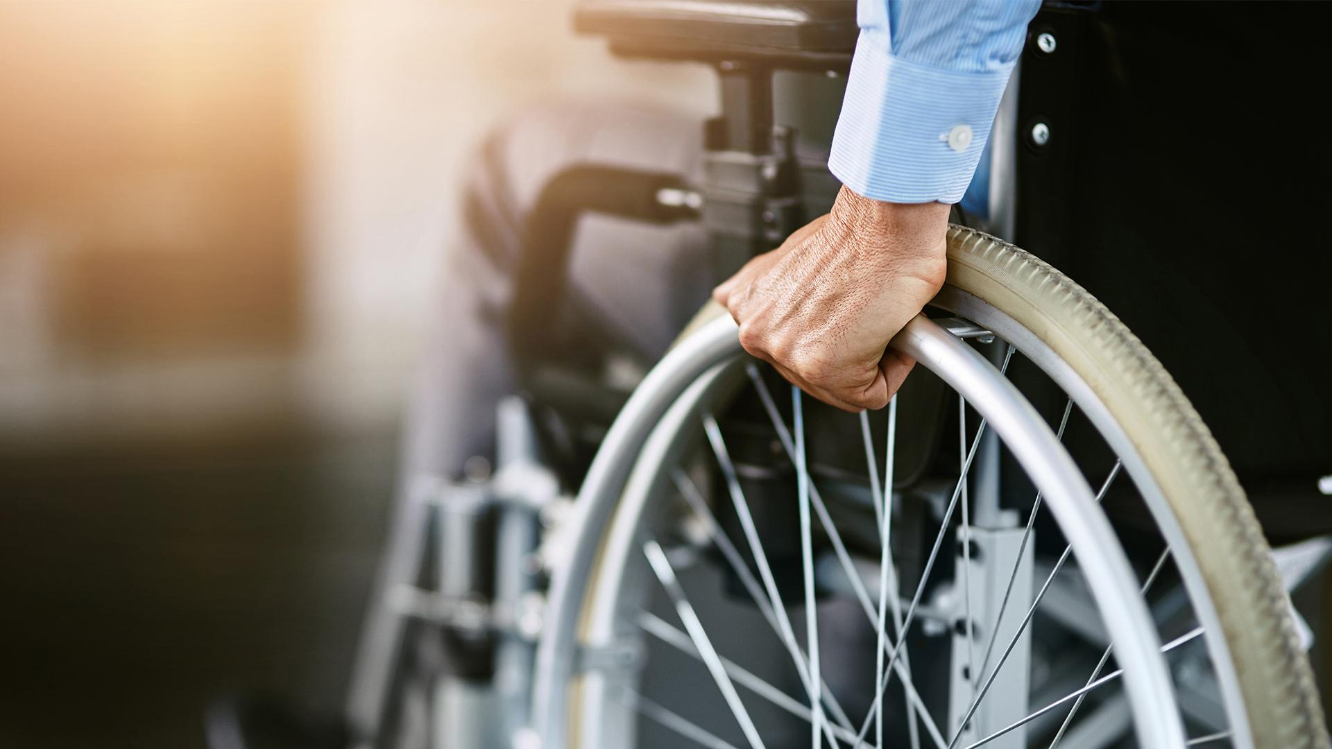 Person using wheelchair