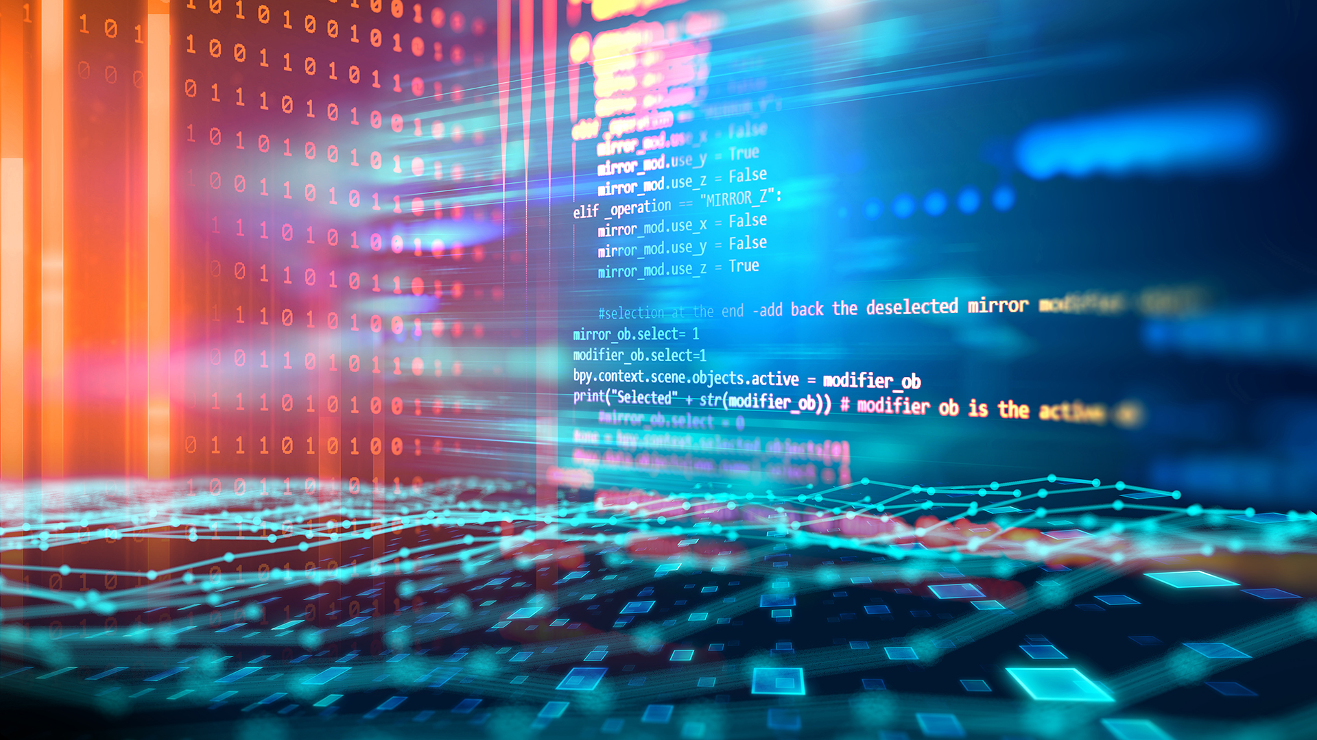 digital html code displayed on screens at risk of cyber attack