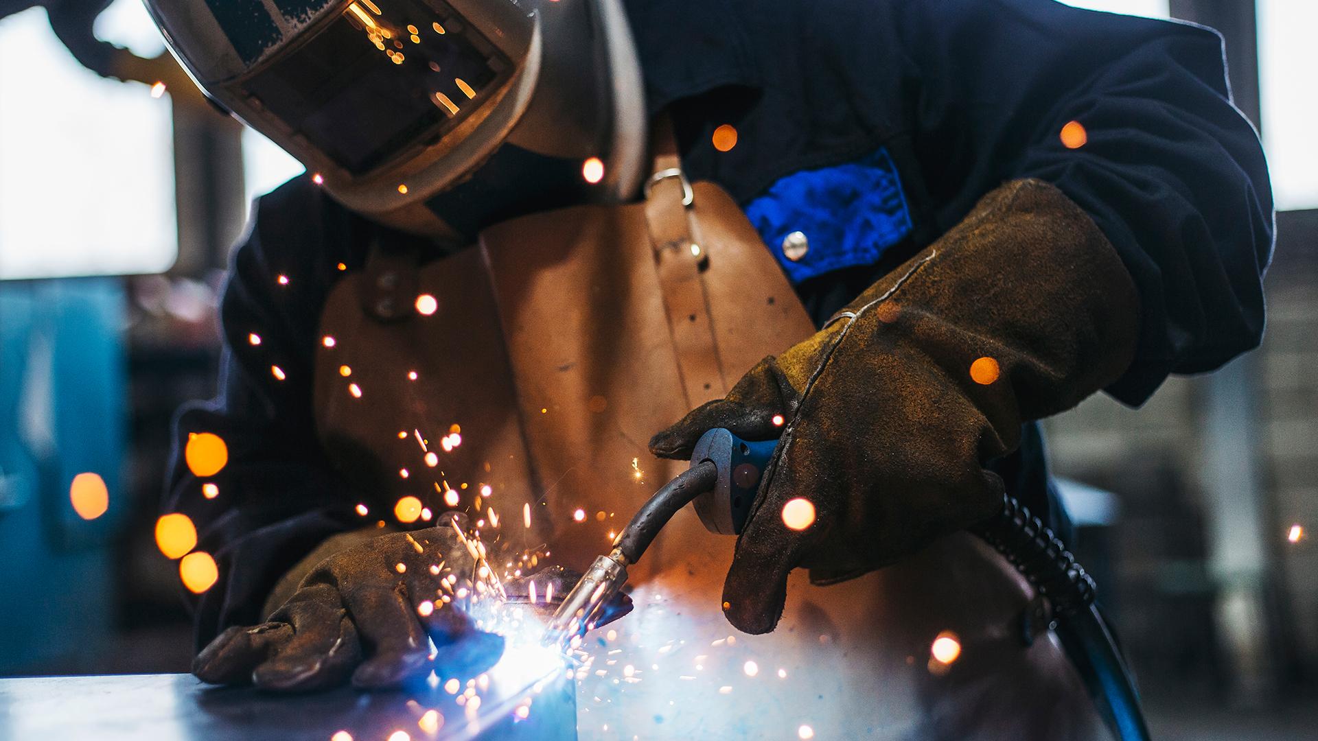 Person welding