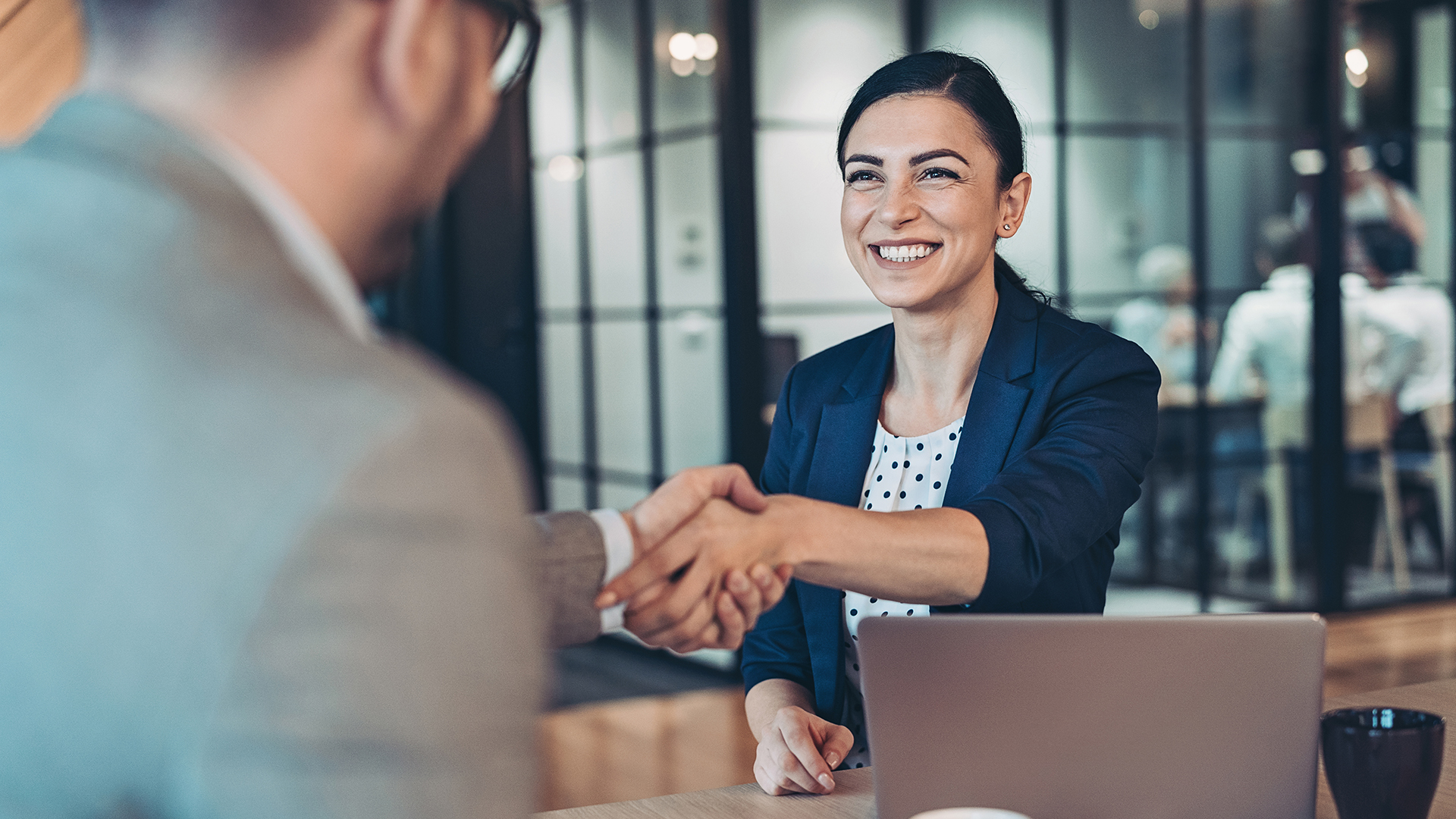 Pleasant business exchange
