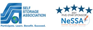 Self Storage Association - Participate. Learn. Benefit. Succeed. and 2021 Five-Star Sponsor NeSSA